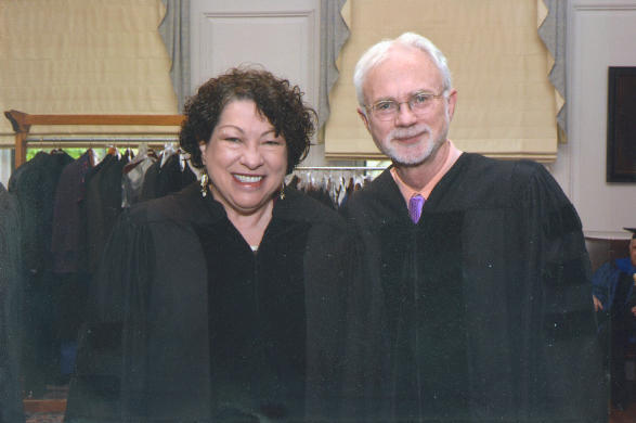 John and Supreme Court Justice Sonia Sotomayor, honorary degree recipients, Yale University, 2014.